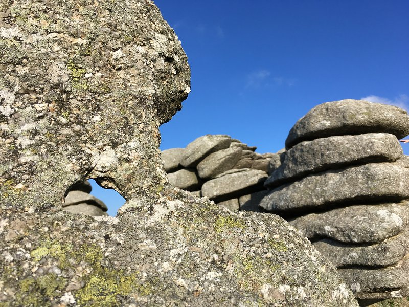 Exciting rock formations on the nearby carns (hills).