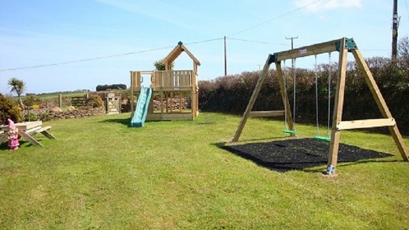 Children's play area at Vose  Farm Holiday Cottages