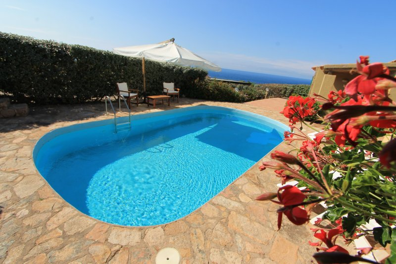 Villa Diamante with private pool and sea view, vacation rental in Costa Paradiso