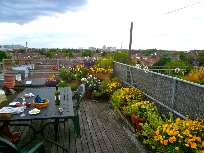 Beautiful west facing terrace with BBQ