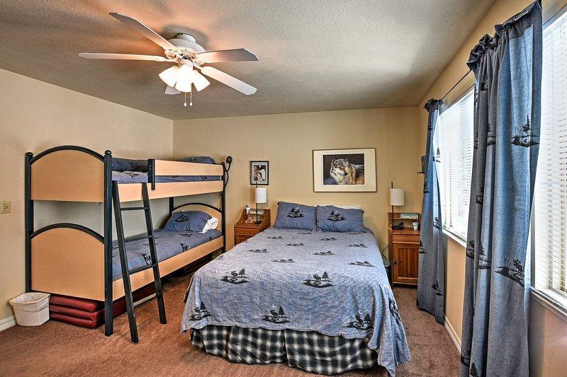 Cette chambre est parfaite pour les familles.
