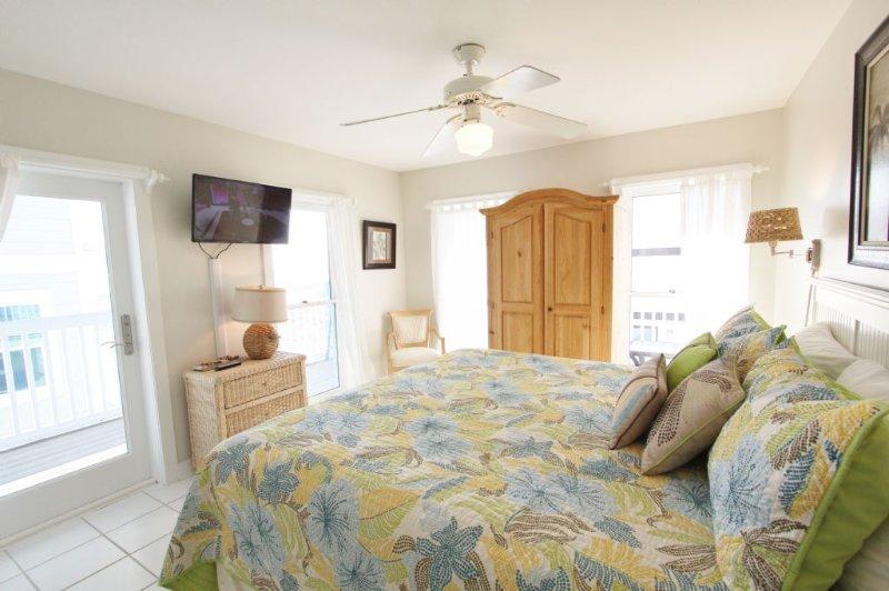 Yellow Bird Bedroom to TV