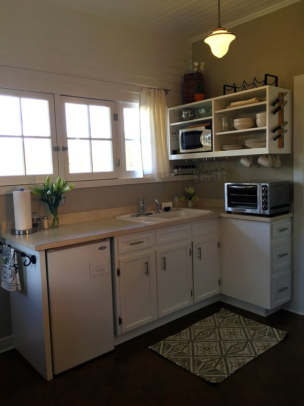 Prepare Meals In The Well-Stocked Kitchenette, Complete With Organic Coffee, Tea, Cream, and Sugar.