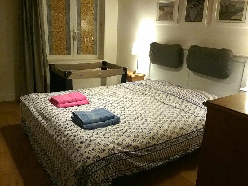 Bedroom 1 with Pram