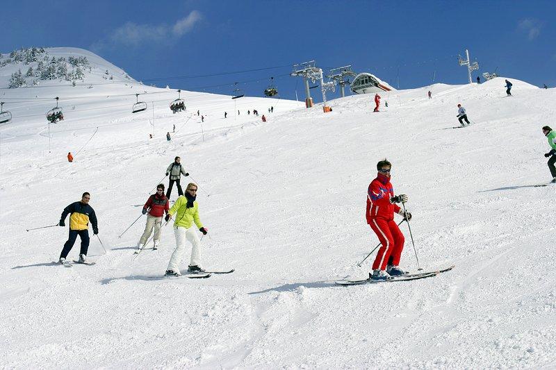 Ski School aan de bovenkant van Champagny kabelbaan van dorp