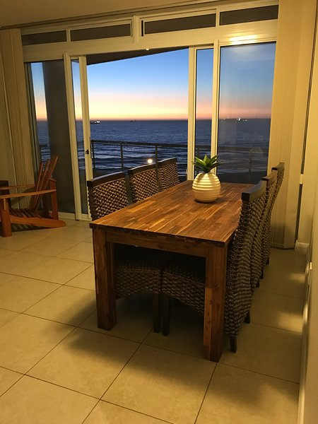 Open plan dining room with an amazing view