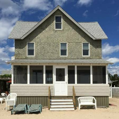 Front of cottage-beach side