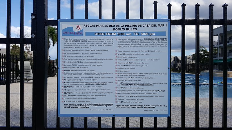 Pool regulations for you and your family's safety.