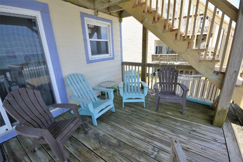 Main Oceanfront Deck off Living Area