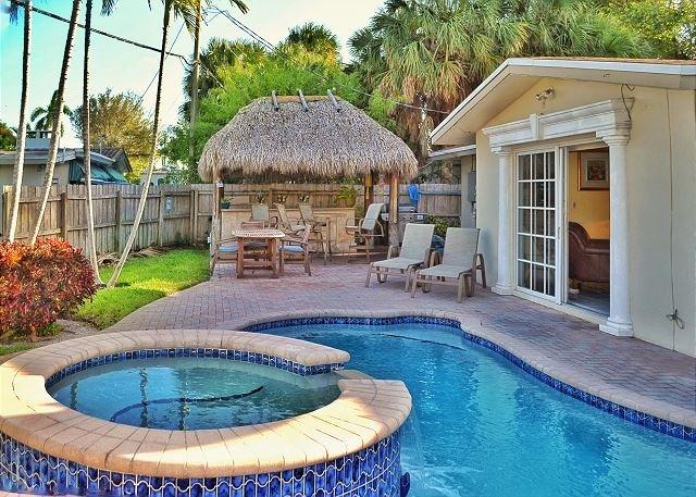 waterfront home backyard
