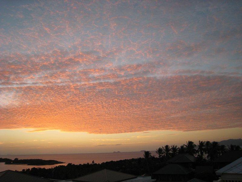 coucher de soleil sur samui