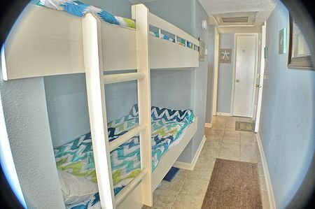 Built-in bunks in hallway