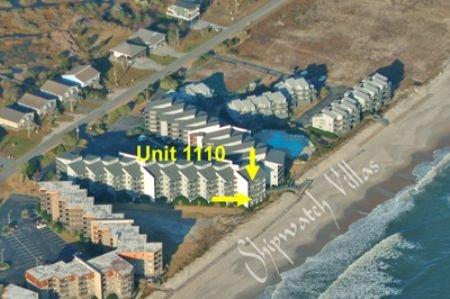 Aerial photo Shipwatch Villas showing Unit 1110