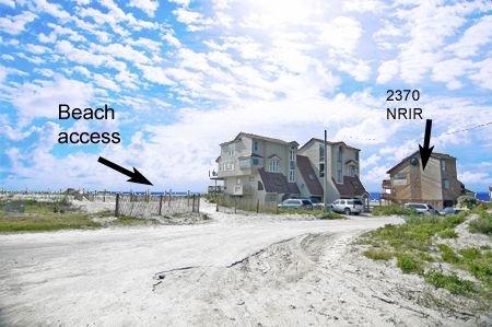 Beach access is two duplexes away