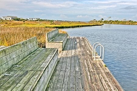 Pier or dock with seating