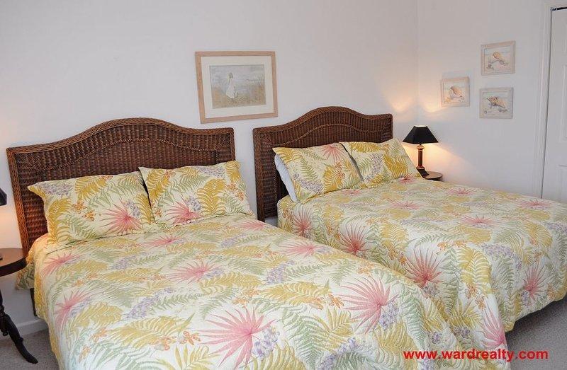 1st Floor Oceanside Bedroom w/ 2 Doubles