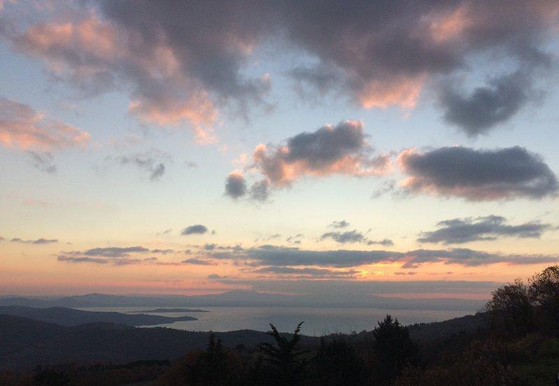 Lake view at sunset