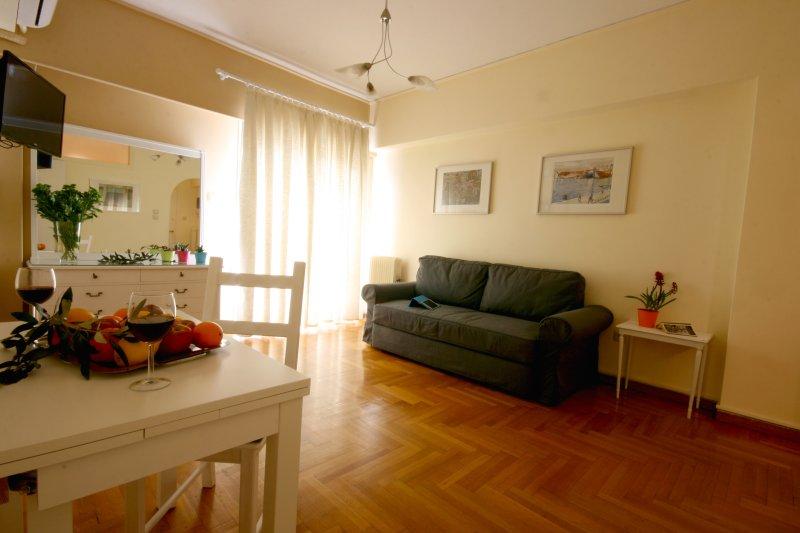 Sala de estar e sofá-cama