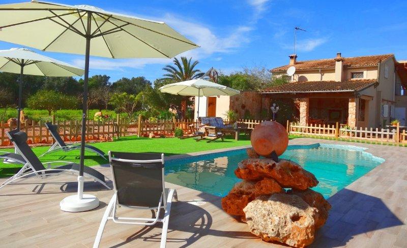 Son Antem, wifi free, private pool, aluguéis de temporada em Llucmajor