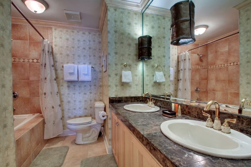 Renovated Master Bath with Whirlpool Tub