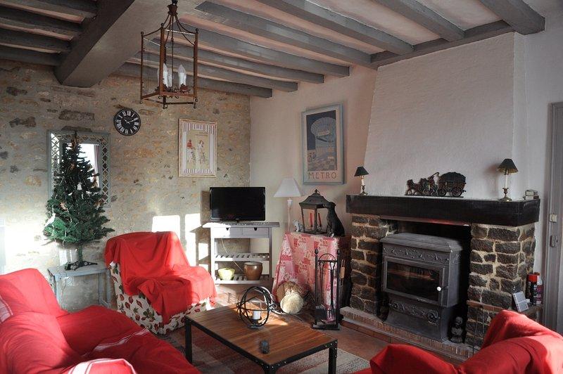 """Sala de estar, decorada de """"Inverno"""""""