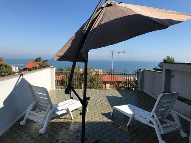 terrace with fabulous sea views