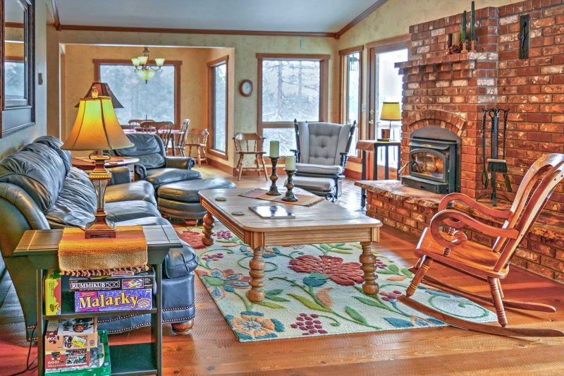 Have a tranquil getaway when you stay at this beautiful 3-bedroom vacation rental cabin in Somers.