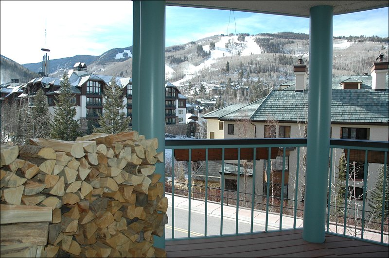 Lovely Ski Run Views from Private Deck