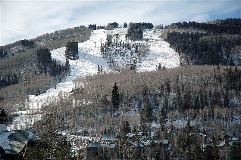 Preciosas vistas de la pista de esquí