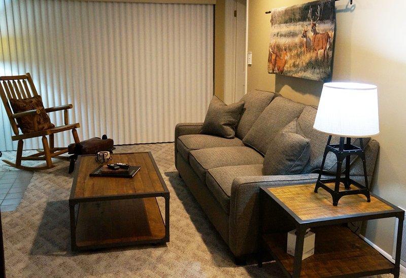 Récemment meublé confortable salon.
