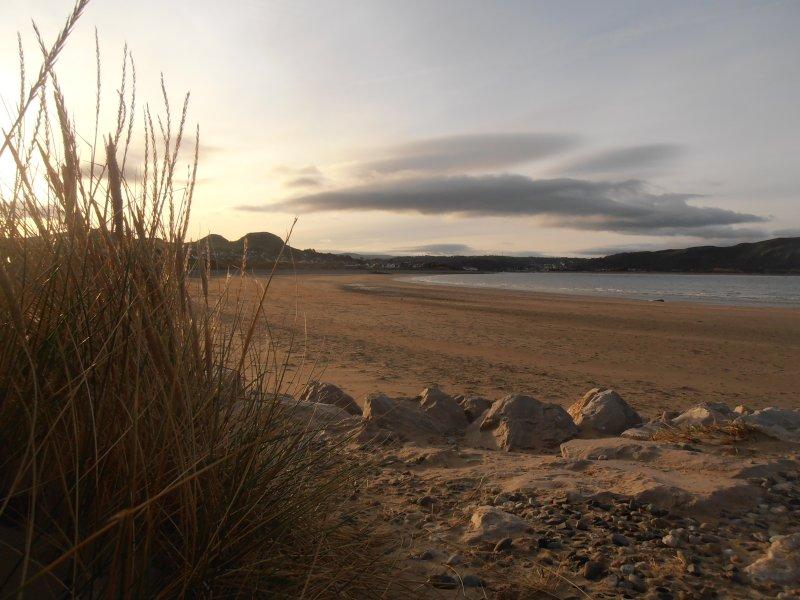 Strand in der Nähe von Deganwy