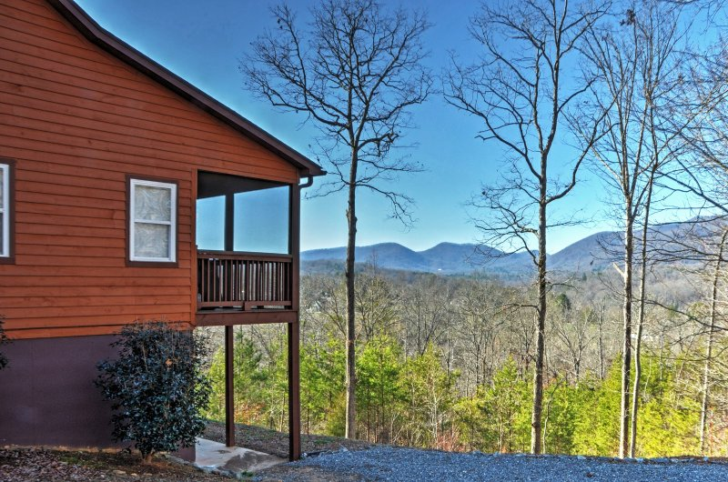 Stay in this secluded 4-bedroom Young Harris home offering plenty of serenity.
