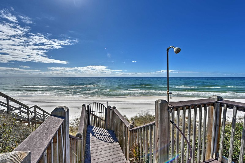 Enjoy Seacrest's beautiful beaches when you stay at this 5-bedroom, 4-bathroom condo steps away from the beach!