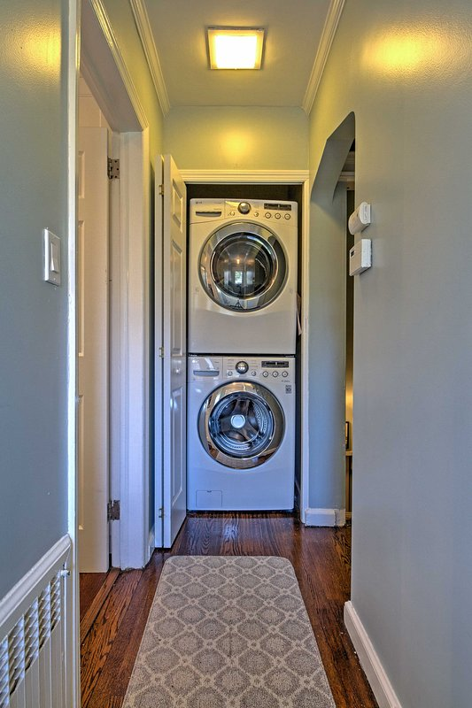 Laundry machines provide the utmost comfort throughout your stay.