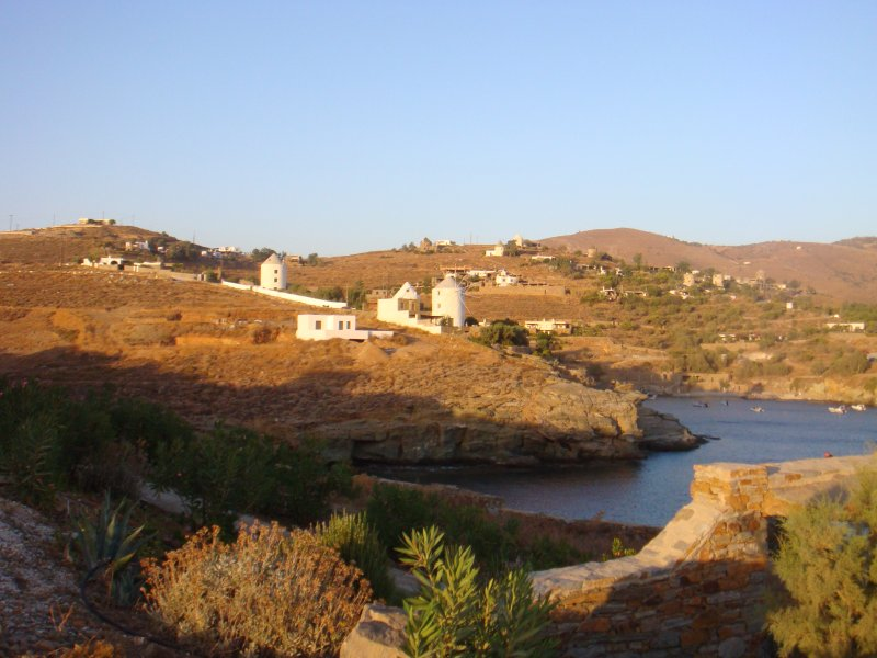 Alba nel villaggio di Koundouros
