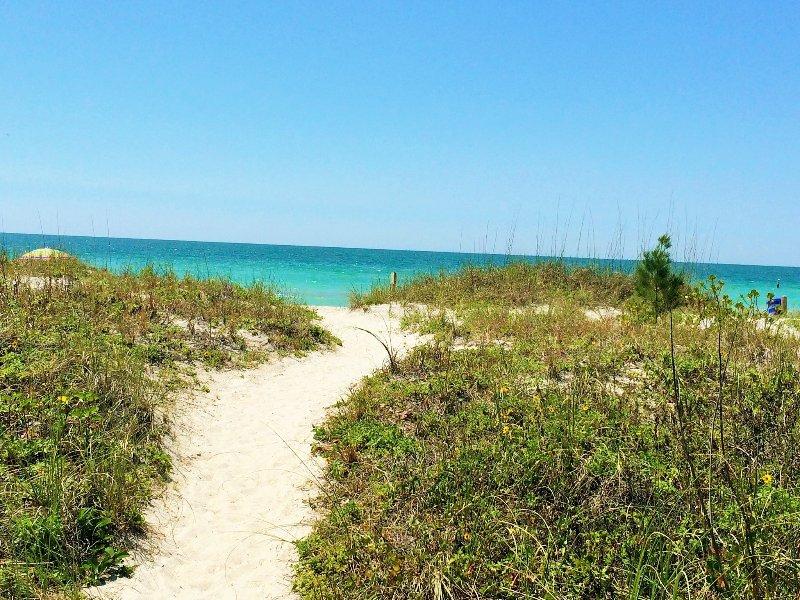 Nur wenige Schritte bis zum Strand