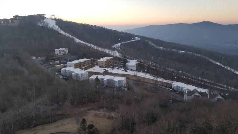 Vista de invierno desde el balcón