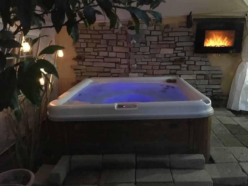 bain à remous extérieur chauffé