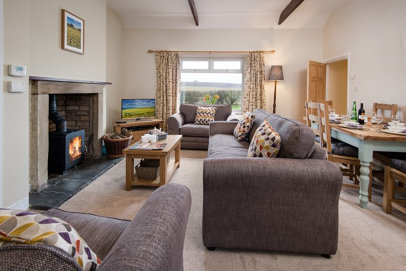 Wagtail Cottage, cosy pet friendly holiday cottage near Berwick on Tweed, location de vacances à Spittal