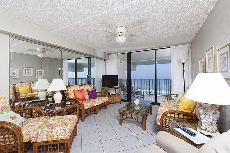 Living room with beachview