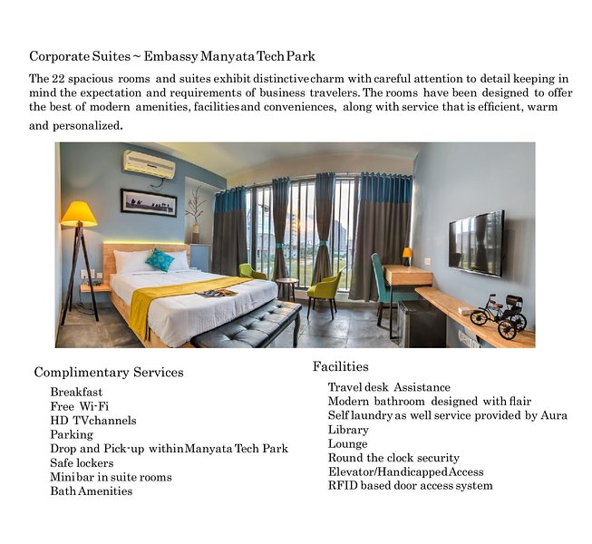 AURA Corporate Suites at Manyata Tech Park, vakantiewoning in Bangalore Rural District