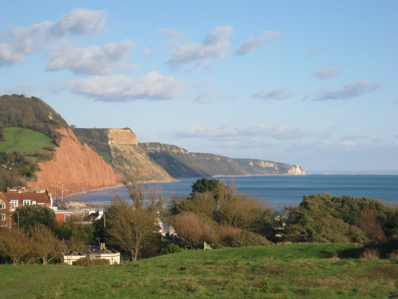 The Coastline at Sidmouth which forms part of The Jurassic Coast ~ a World Heritage Site