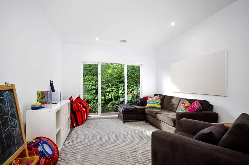 second living room with heaps of activities for kids, and TV
