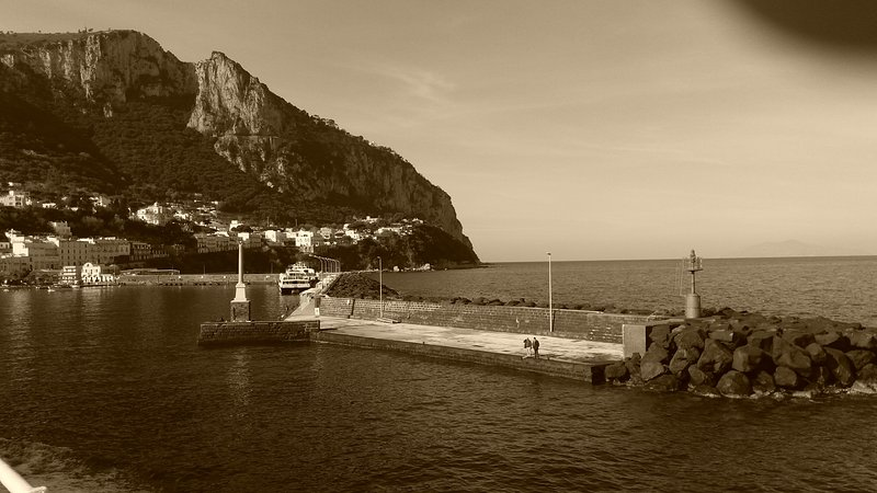 aankomst in Capri ...