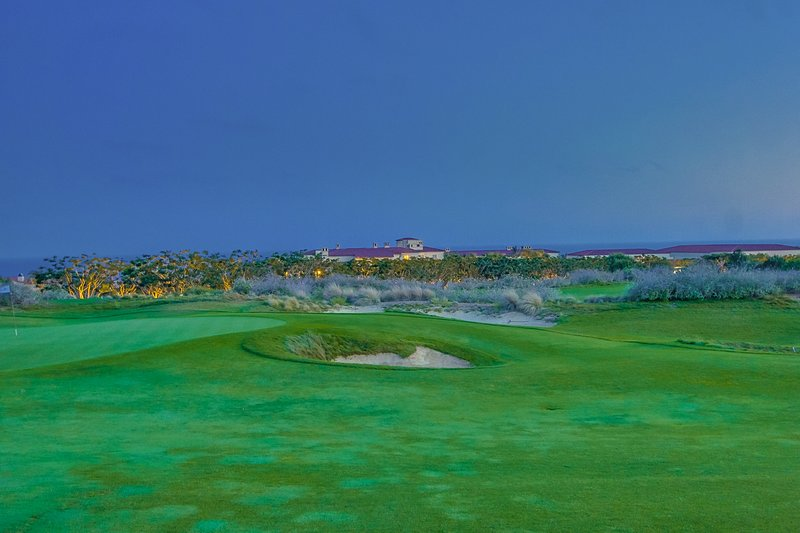 The Golf Course and Pacific Ocean at dusk.