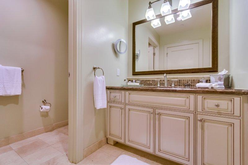 The second bathroom.