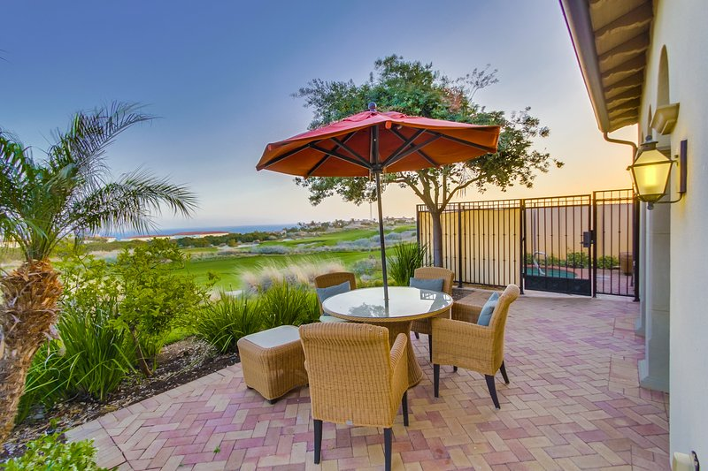 The patio also provides great views of the Terranea Golf Course.