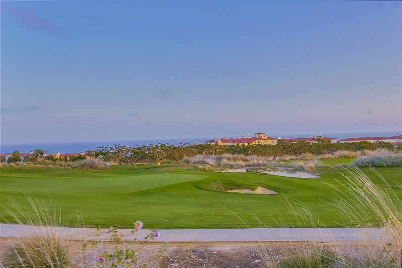 Our villa overlooks the 6th hole of the Golf Course with the Pacific Ocean in the background.