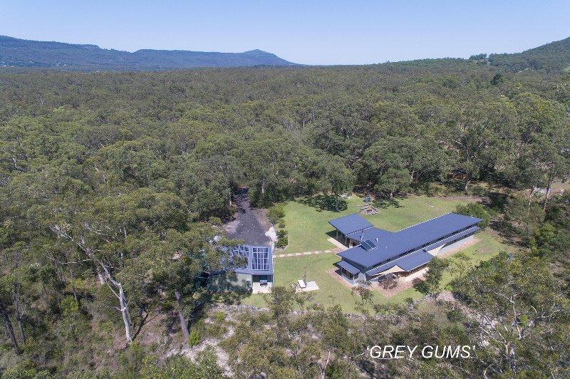 Vista aérea de alguns dos nossos 12 acres.