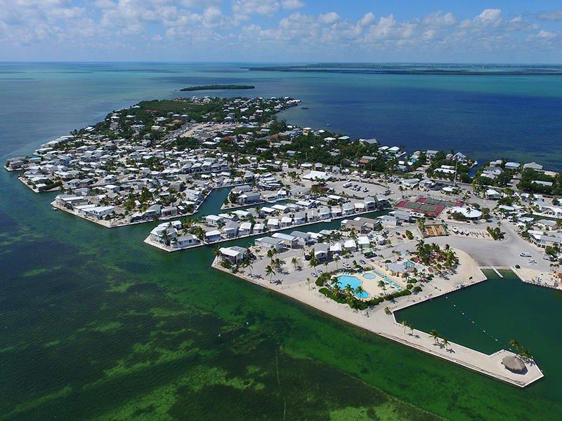 Vista aérea da Venture Out Resort - olhando para o sul